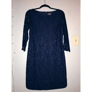 Vince Camuto Navy Lace Party Dress Size 6